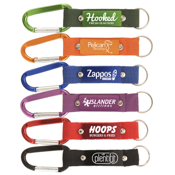 Strap Happy Keychain - Key Tag with Carabiner & Mesh Strap