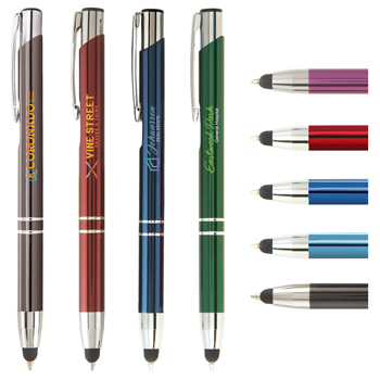 Tres-Chic Touch Stylus Pen - Full-Color Metal Pen