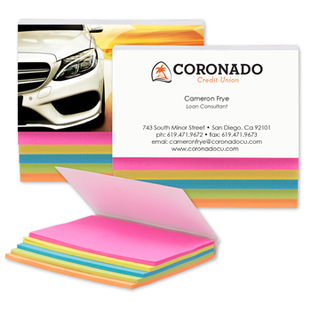 SimpliColor 5-Color Sticky Notes - Full Color Cover