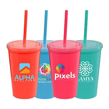 Explore Brights - 16 oz Double Wall Tumbler- Full Color