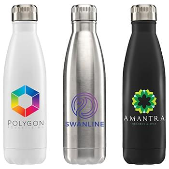 Ibiza - 17 oz. Double Wall Stainless Bottle - Full Color