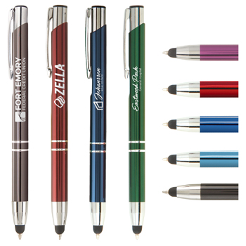 Tres-Chic Touch Stylus Pen - Laser Engraved Metal Pen