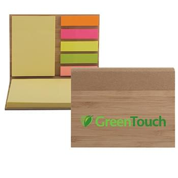 Bamboo Sticky Note Pad - Full Color