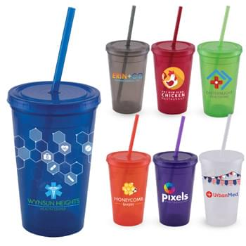 Explore - ColorJet - Full Color 16 Oz. Double Wall Tumbler